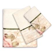 Sweet Home Collection 3 Piece Rose Print Bath Towel Set