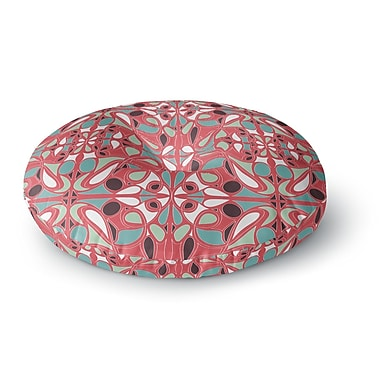 East Urban Home Miranda Mol 'Stained Glass Pink' Round Floor Pillow; 26'' x 26''