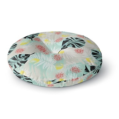East Urban Home Mmartabc 'Tropical Plants' Illustration Round Floor Pillow; 23'' x 23''