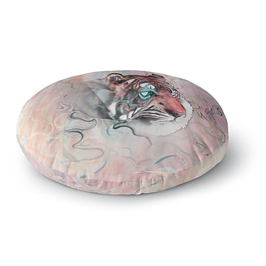 East Urban Home Mat Miller 'Illusive by Nature' Round Floor Pillow; 26'' x 26''