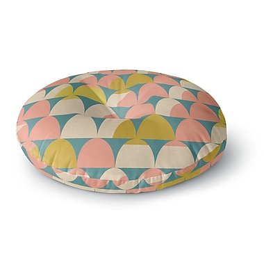 East Urban Home Michelle Drew 'Scallops' Round Floor Pillow; 23'' x 23''
