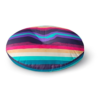 East Urban Home Nika Martinez 'Surf Stripes' Round Floor Pillow; 23'' x 23''