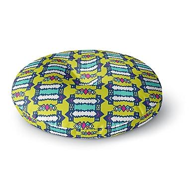 East Urban Home Miranda Mol 'Party Vibes' Round Floor Pillow; 26'' x 26''