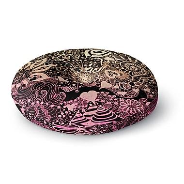 East Urban Home Monika Strigel 'Neptunes Garden II' Round Floor Pillow; 23'' x 23''