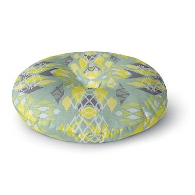 East Urban Home Miranda Mol 'Joyful Teal' Round Floor Pillow; 26'' x 26''