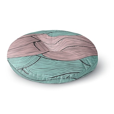 East Urban Home Pom Graphic Design 'Summerlicious' Round Floor Pillow; 26'' x 26''