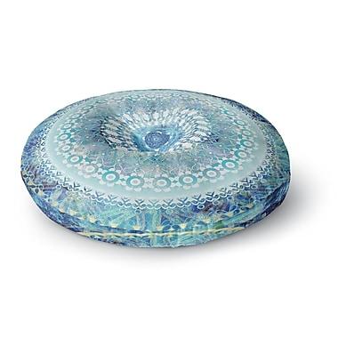 East Urban Home Nina May 'Ornate Boho Mandala' Mixed Media Round Floor Pillow; 26'' x 26''