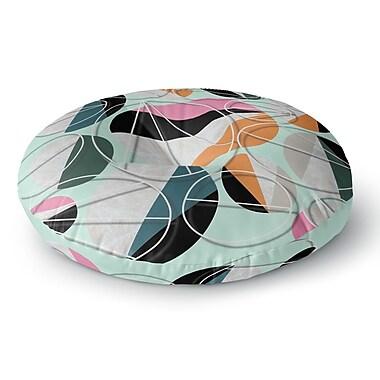 East Urban Home SusanaPaz 'Stones on Mint' Digital Round Floor Pillow; 26'' x 26''