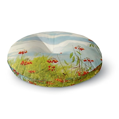 East Urban Home Sylvia Coomes 'Red Bird of Paradise' Photography Round Floor Pillow; 23'' x 23''