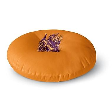 East Urban Home BarmalisiRTB 'Rhinoceros' Digital Round Floor Pillow; 26'' x 26''