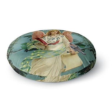 East Urban Home Suzanne Carter 'The Delivery' Round Floor Pillow; 26'' x 26''
