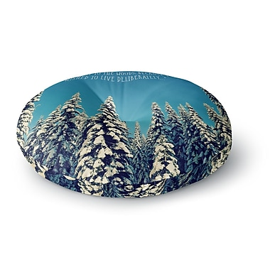 East Urban Home Robin Dickinson 'I Went to the Woods' Round Floor Pillow; 26'' x 26''