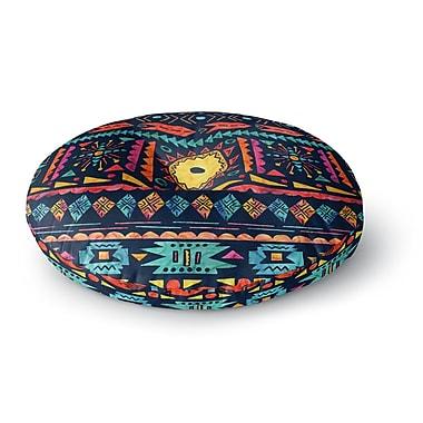 East Urban Home Noonday Design 'Tribal Sunshine' Digital Round Floor Pillow; 26'' x 26''