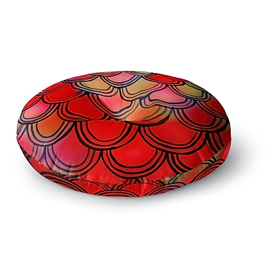 East Urban Home Theresa Giolzetti 'Dragon Tail' Round Floor Pillow; 26'' x 26''