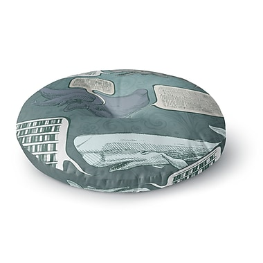 East Urban Home Sophy Tuttle 'Whale Talk' Round Floor Pillow; 26'' x 26''