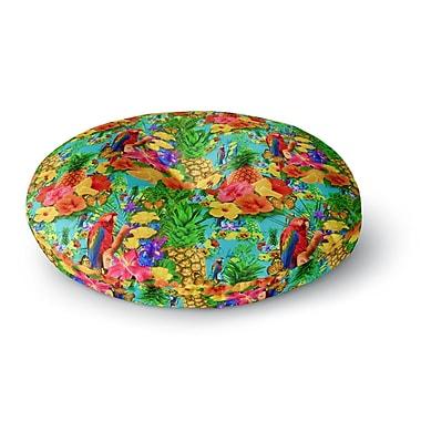 East Urban Home Shirlei Patricia Muniz 'Tropical Style' Nature Round Floor Pillow; 26'' x 26''