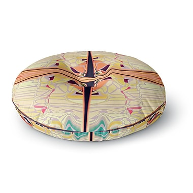 East Urban Home Nina May 'Naranda' Round Floor Pillow; 23'' x 23''