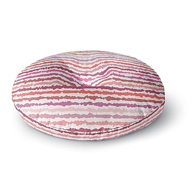 East Urban Home Nandita Singh 'Blush Stripes' Striped Round Floor Pillow; 23'' x 23''