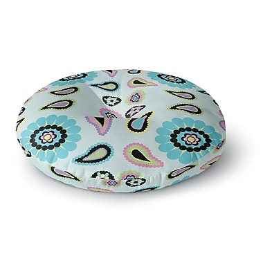 East Urban Home Nina May 'Paisley Candy' Paisley Flower Round Floor Pillow; 26'' x 26''