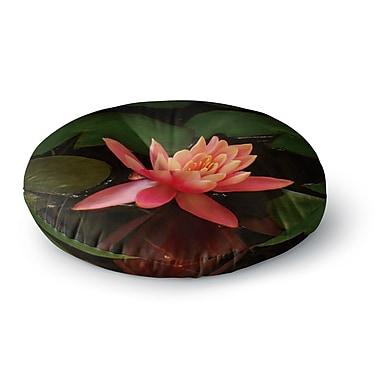 East Urban Home Nick Nareshni 'Lily Pad Flower' Round Floor Pillow; 23'' x 23''