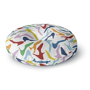 East Urban Home Project M 'Shoe' Round Floor Pillow; 26'' x 26''