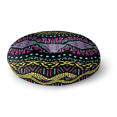 East Urban Home Pom Graphic Design 'Tribal Dominance' Round Floor Pillow; 23'' x 23''