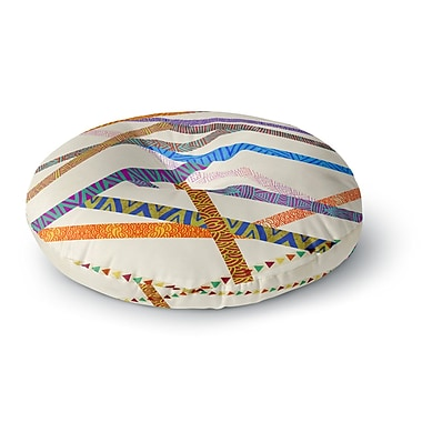 East Urban Home Pom Graphic Design 'Unparalleled' Round Floor Pillow; 23'' x 23''