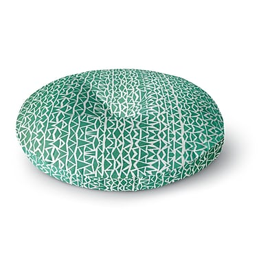 East Urban Home Pom Graphic Design 'Tribal Forrest' Round Floor Pillow; 26'' x 26''