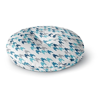 East Urban Home Project M 'Blue Tooth' Round Floor Pillow; 26'' x 26''