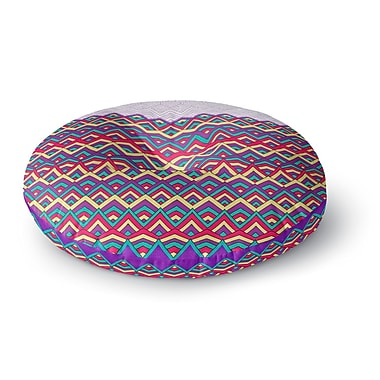 East Urban Home Pom Graphic Design 'Horizons II' Round Floor Pillow; 26'' x 26''
