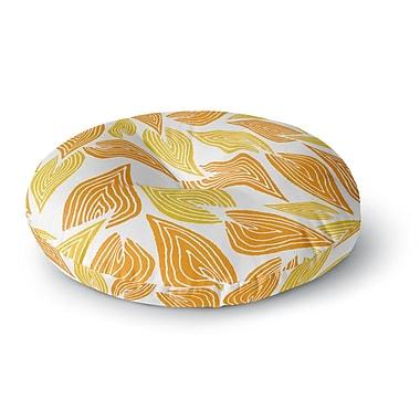 East Urban Home Pom Graphic Design 'Autumn' Round Floor Pillow; 26'' x 26''