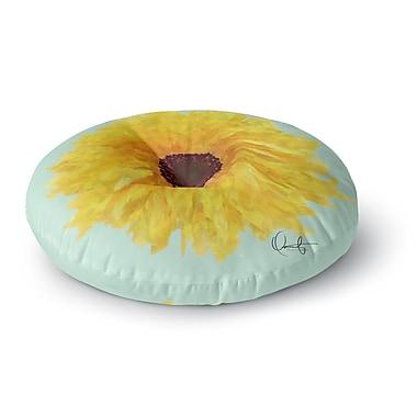 East Urban Home Oriana Cordero 'Sol' Seafoam Round Floor Pillow; 26'' x 26''