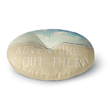 East Urban Home Sylvia Cook 'Adventure is Out There' Round Floor Pillow; 23'' x 23''