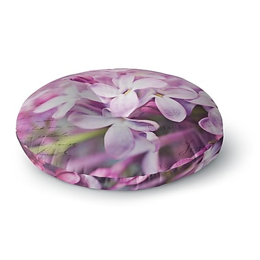East Urban Home Sylvia Cook 'French Lilacs' Photography Round Floor Pillow; 23'' x 23''