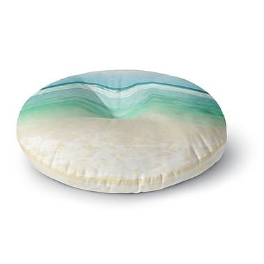 East Urban Home Sylvia Cook 'Endless Sea' Coastal Round Floor Pillow; 26'' x 26''