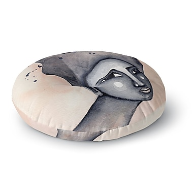 East Urban Home Stacey-Ann Cole 'Yearning African American Art' Round Floor Pillow; 26'' x 26''