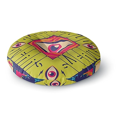 East Urban Home Roberlan 'Blood Sweat Tears and Soul' Square Round Floor Pillow; 23'' x 23''