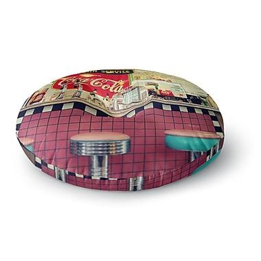 East Urban Home Sylvia Cook 'Retro Diner' Coca Cola Round Floor Pillow; 23'' x 23''