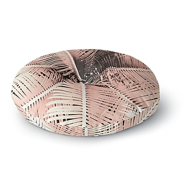 East Urban Home Suzanne Carter 'Palm-Peach' Round Floor Pillow; 23'' x 23''