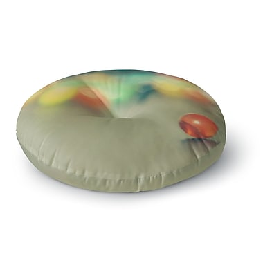 East Urban Home Sylvia Coomes 'Marble Bokeh' Abstract Round Floor Pillow; 26'' x 26''