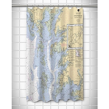 Longshore Tides Ellisburg Chesapeake Bay, MD-VA Polyester Shower Curtain