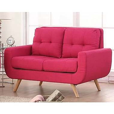 iNSTANT HOME Clementina Tufted Loveseat; Magnetic Pink