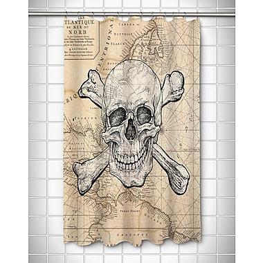 Longshore Tides Ellisburg Skull and Crossbones Old World Polyester Shower Curtain