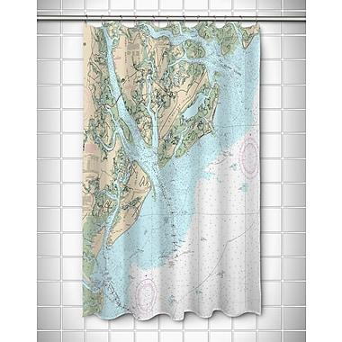 Longshore Tides Ellisburg Hilton Head Island, SC Polyester Shower Curtain