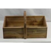 Union Rustic Rectangular Wood Basket