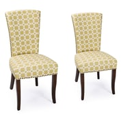 Darby Home Co Miriam Floral Upholstered Dining Chair w/ Birch Legs (Set of 2)