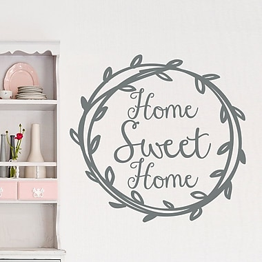 Decal House Home Sweet Home Wall Decal; Navy Blue
