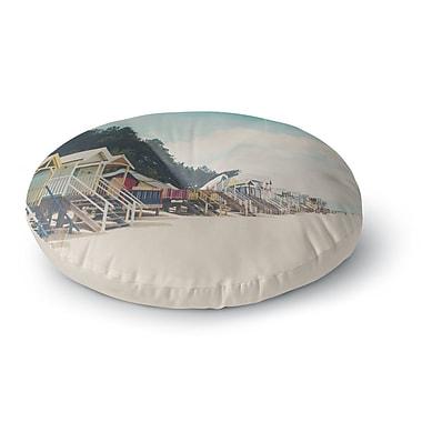 East Urban Home Laura Evans 'Small Spaces' Beach Coastal Round Floor Pillow; 26'' x 26''