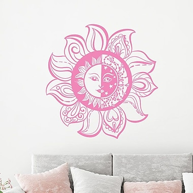 Decal House Sun and Moon Wall Decal; Lime Tree Green