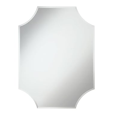 Darby Home Co Charmayne Corners Rectangle Clear Wall Mirror